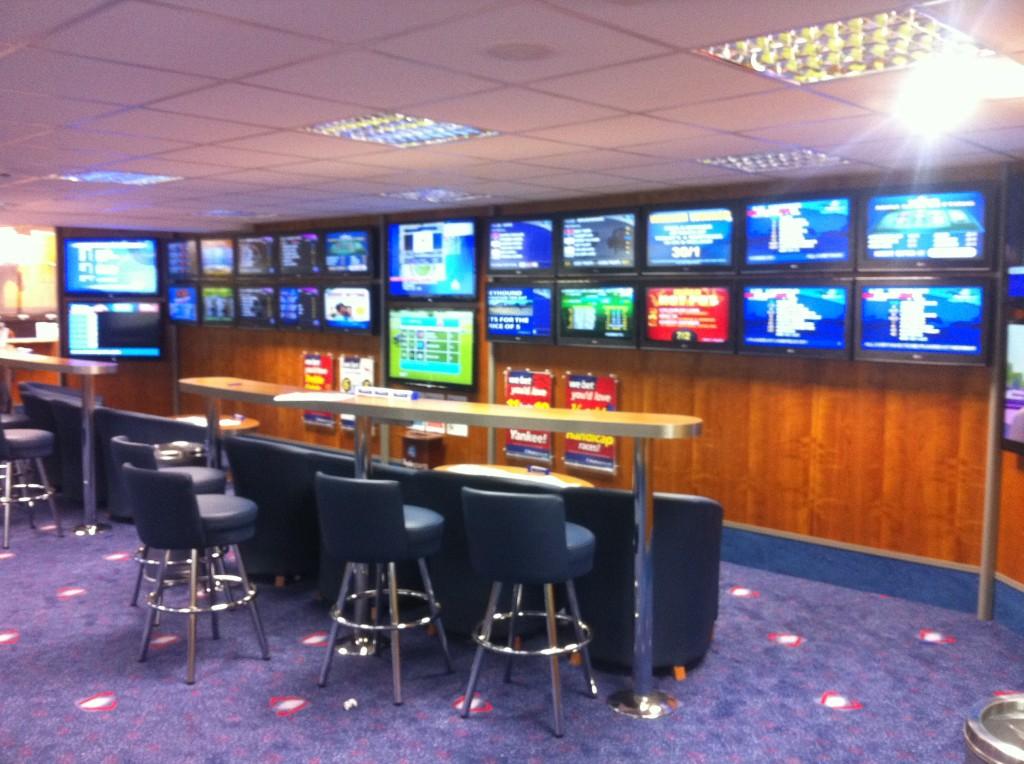 TV Gantry in Boylesports Shop