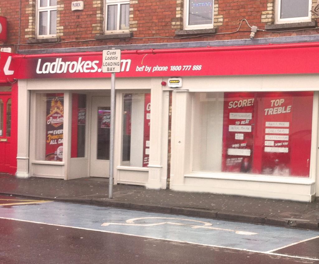 Shopfront for Ladbrokes in Ireland