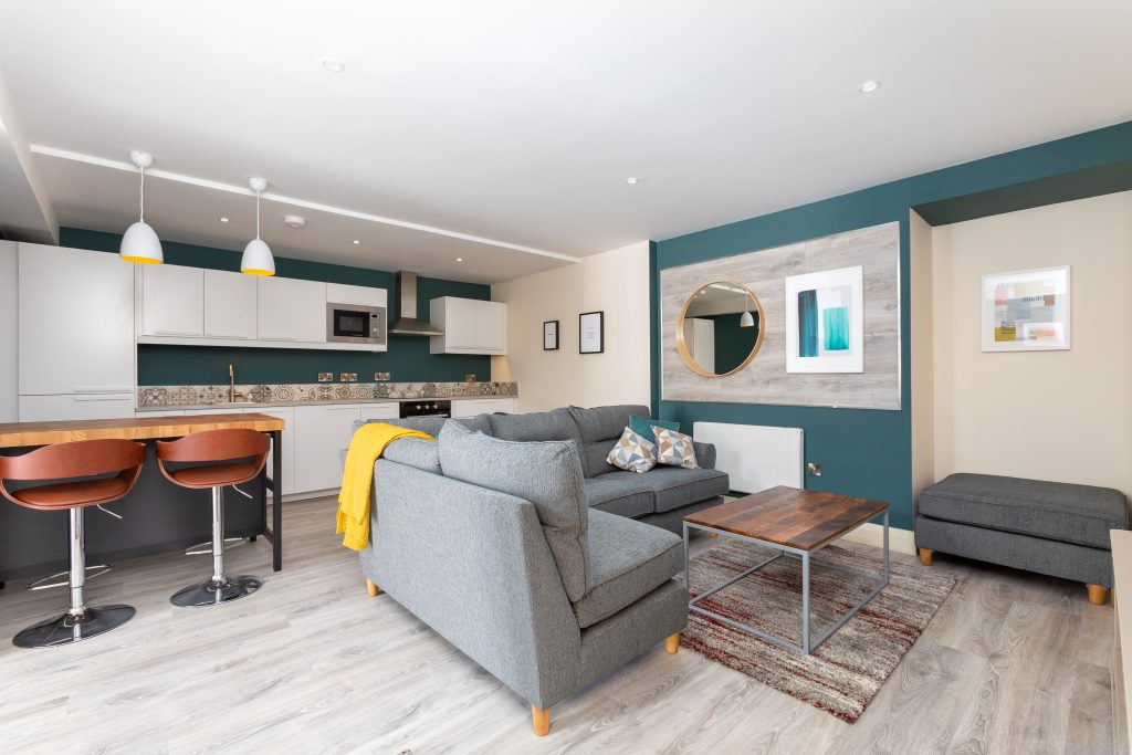 Derelict terraced house transformed into Apartments.
