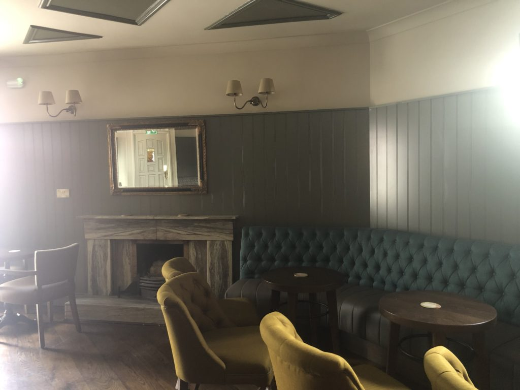 Photo of Murphys pub Kilcock - Lounge and smoking yard refurbished by PP Construction in 2019.