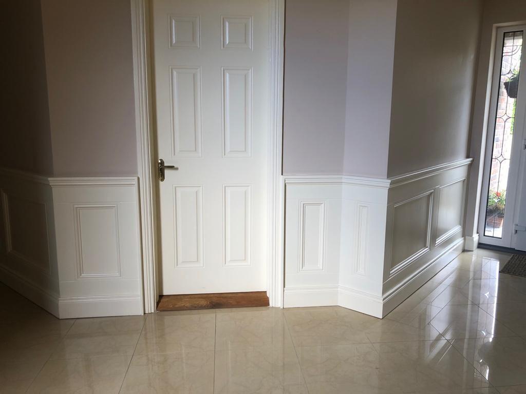 Image of paneling at doorway